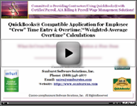 How does Crew Overtime Entry Solution work with QuickBooks?